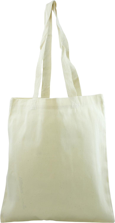 Ensign Peak Dual Handle Cotton Natural Shopping Bag