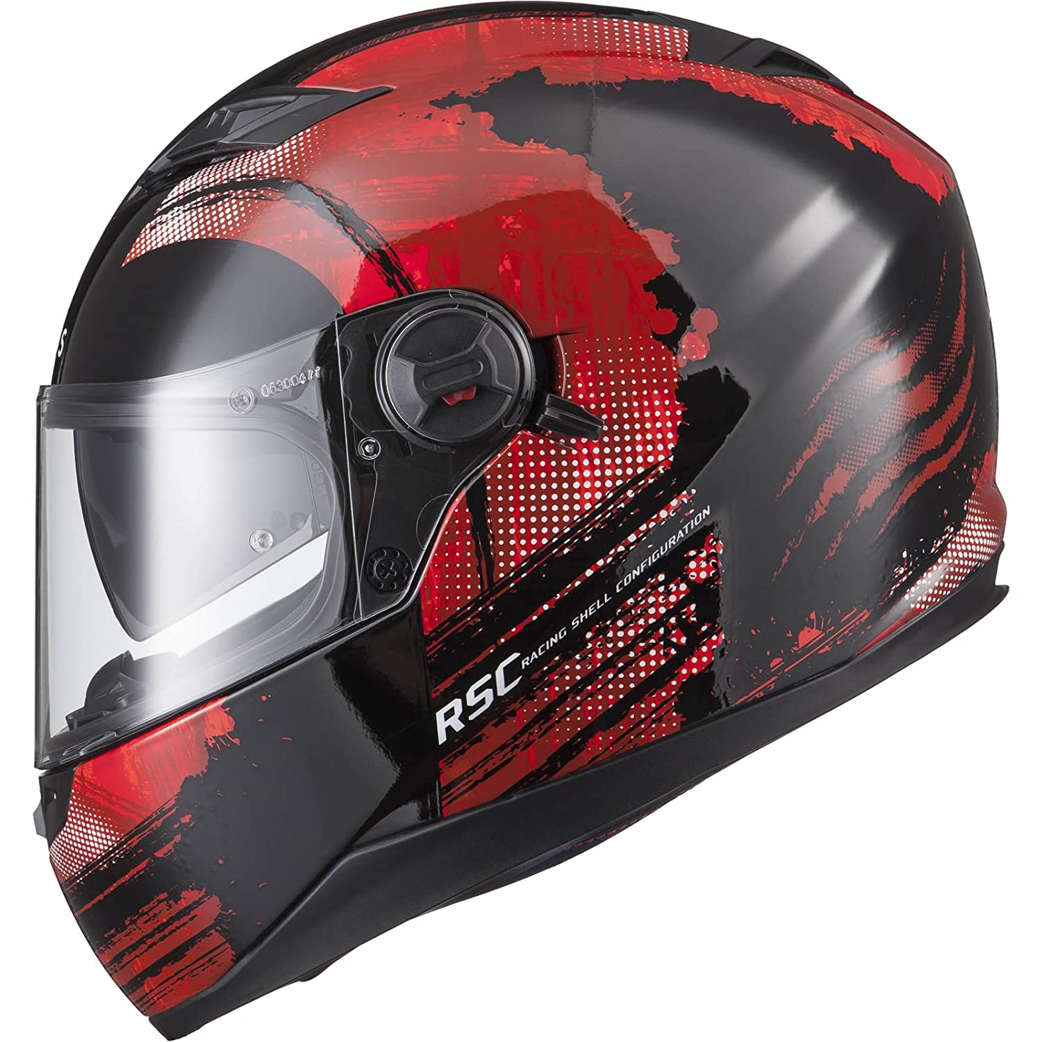 Agrius Rage SV Claw Motorcycle Helmet S Gloss Black//Red