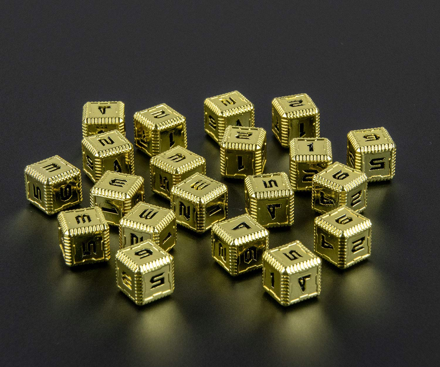 20 Pack Saberforge Heavy Metal 12mm D6 Dice SciFi Numbers