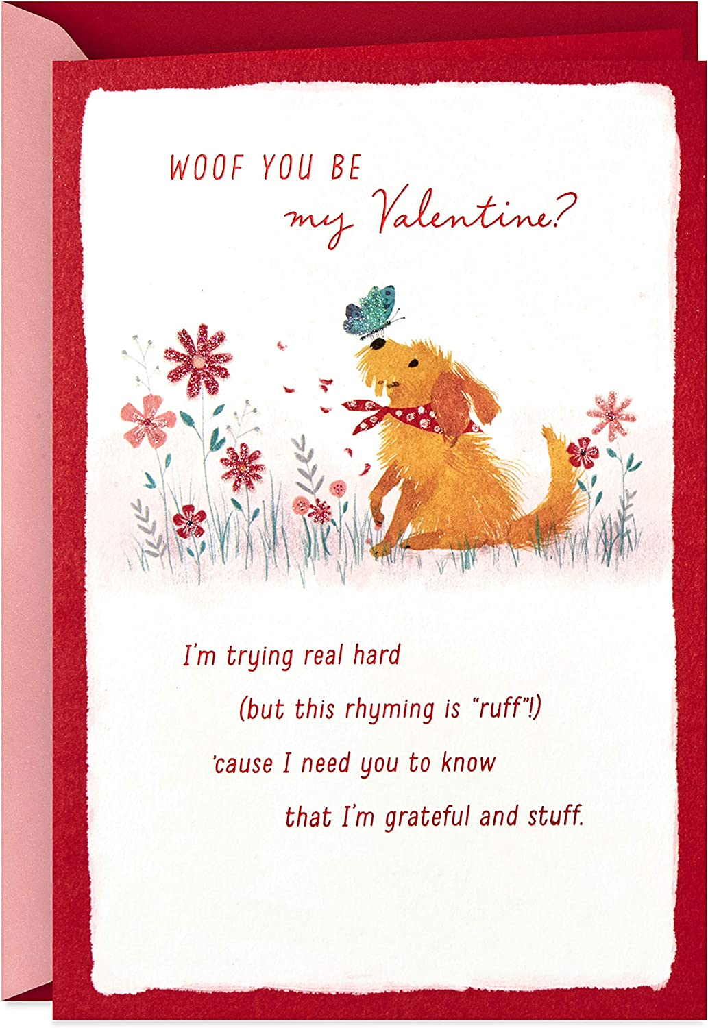 Amazon Com Hallmark Valentines Day Card From The Dog Woof Office Products