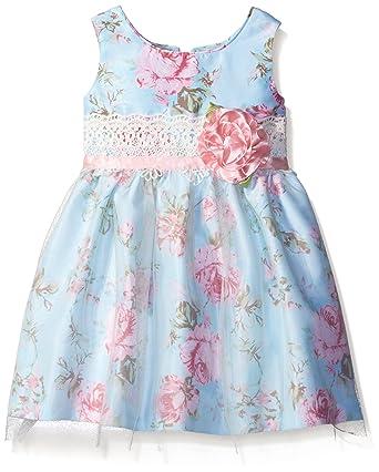 dec23d7e8c9 Amazon.com  Jayne Copeland Girls  Floral Print Shant Mesh Dress  Clothing
