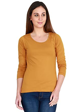 online store 3b160 99088 Fashion Fakir Women s Solid Mustard Colour Full Sleeve Cotton Stylish and  Casual wear (Small)
