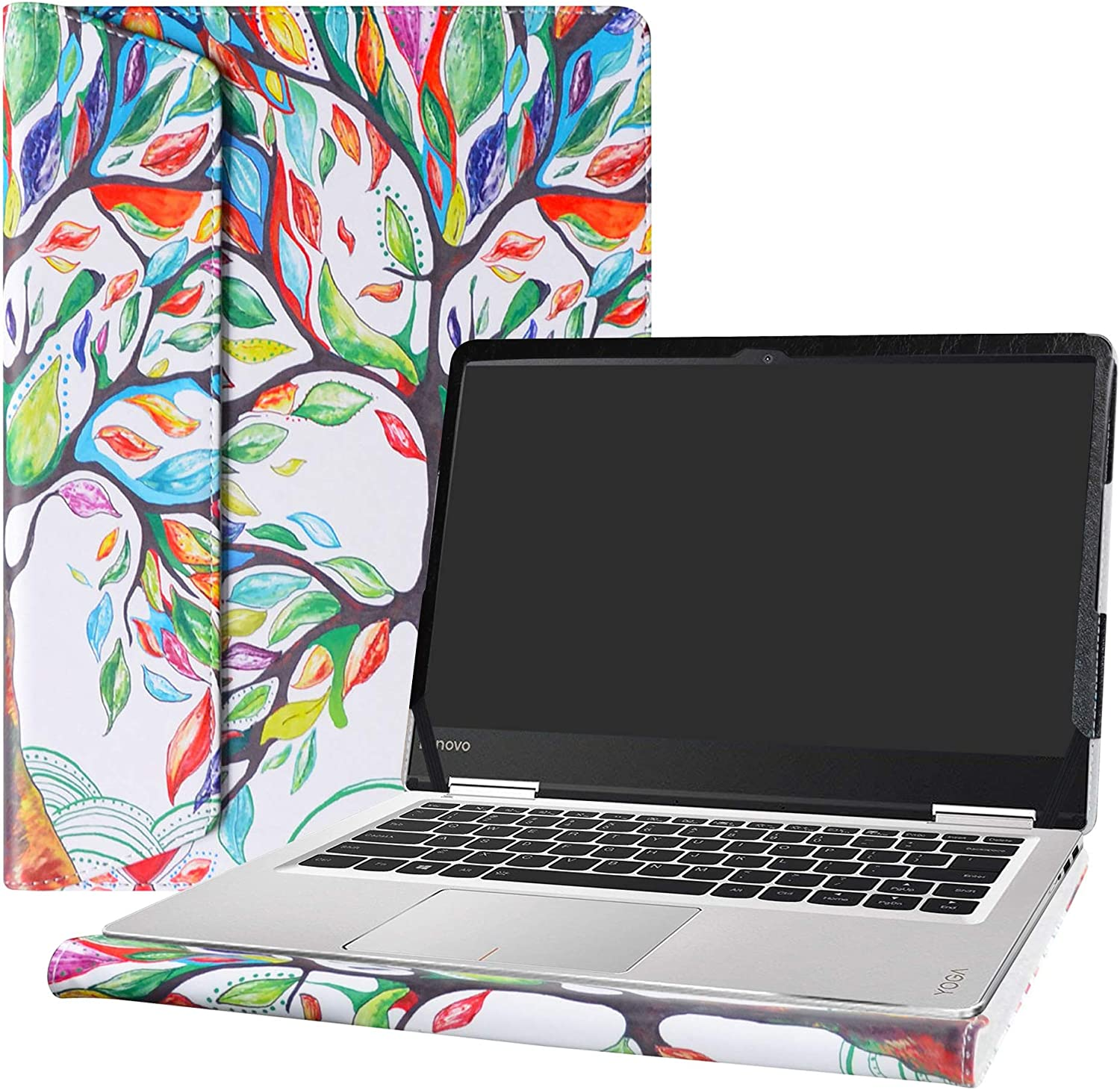"""Alapmk Protective Case Cover for 14"""" Lenovo Yoga 710 14 710-14ISK 710-14IKB & ThinkBook 14s 14s-IWL 14s-IML Laptop(Note:Not fit Yoga 710 11.6 & 15.6/Yoga 720/Yoga 730 & ThinkBook 14-IML),Love Tree"""