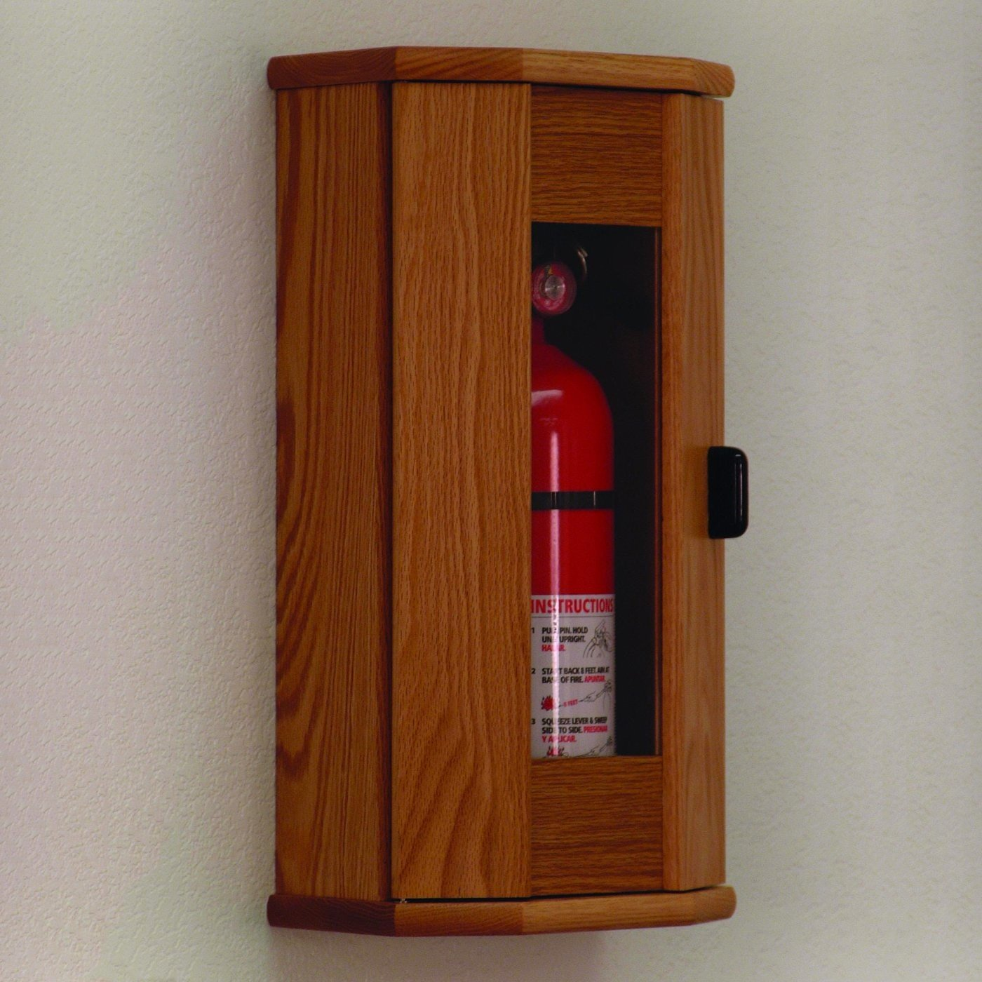 Wooden Mallet FEC21 10 Lb. Fire extinguisher Oak Cabinet with Acrylic Front Panel