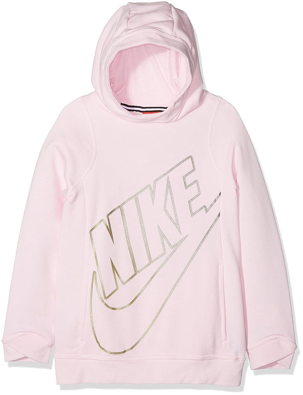 NIKE G NSW Modern Po GFX Arctic Sweatshirt, Mädchen, Pink