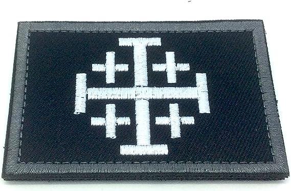 Jerusalén Cruz caballeros templarios bordado Airsoft Paintball parche, negro: Amazon.es: Deportes y aire libre