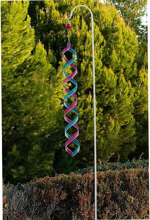 Adorno para jardín o Patio de Exterior de Metal con Gancho de Pastor, Color Azul y Morado, decoración de jardín al Aire Libre, 4 Pulgadas x 4 Pulgadas x 44 Pulgadas: Amazon.es: Jardín