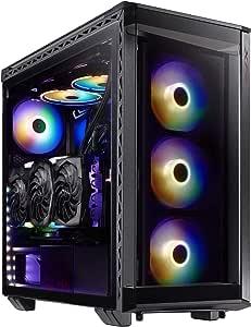 XPG BATTLECRUISER-BKCW XPG BATTLECRUISER ARGB Tempered Glass Siyah USB 3.0 Mid Tower Kasa
