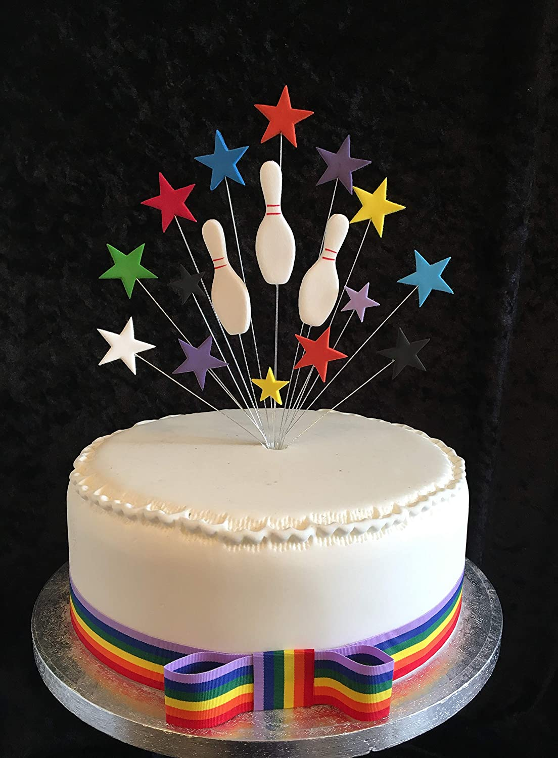Awe Inspiring Ten Pin Bowling Birthday Cake Topper Ideal For A 20Cm Cake Plus 1 Funny Birthday Cards Online Aboleapandamsfinfo