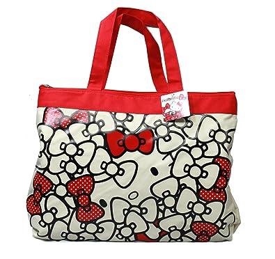 1a10e07c3fdd Sanrio Eikoh 18 quot  Hello Kitty Ribbon   Bow Pattern Tote Bag Shoulder  Hand Bag