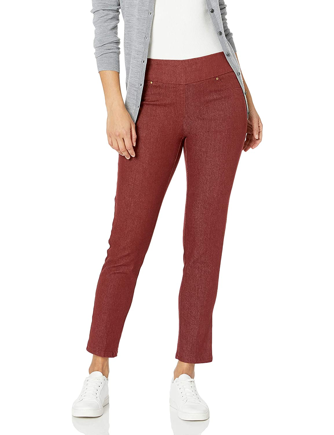 Womens Petite Size Pull-on Colored Extra Stretch Denim Pant Ruby Rd