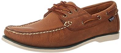 Polo Ralph Lauren Men's Bienne Boat Shoe, Tan Pull Up Leather, ...