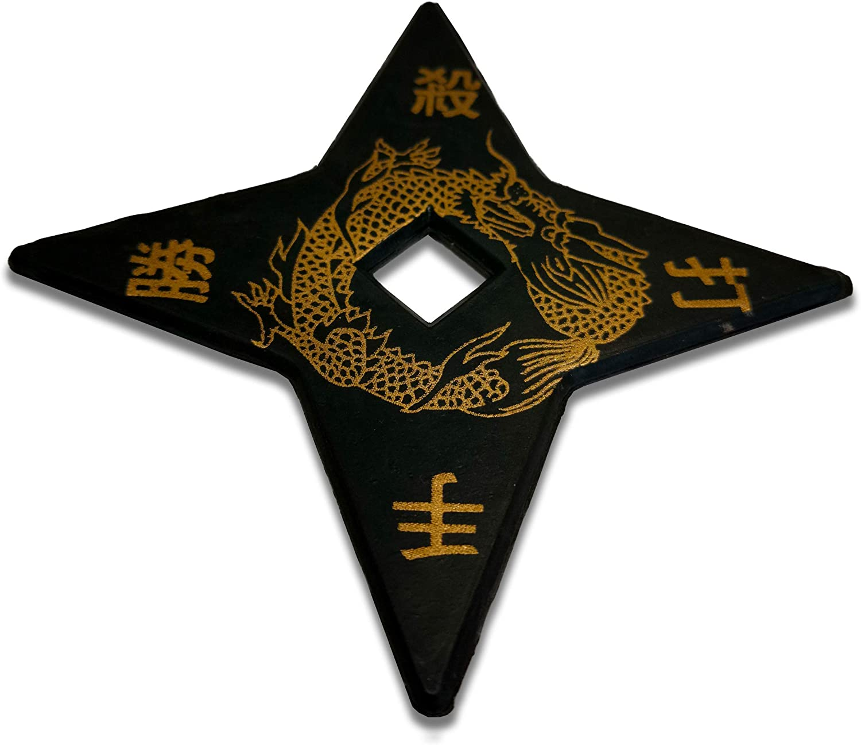 Set of 3 CHUXX Martial Arts Black Rubber Training Ninja Stars