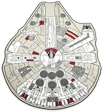 Star Wars Millennium Falcon Rug Extra Large 79 X 25 4 Cm Küche Haushalt