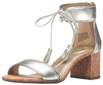 Bandolino Women's Semise Heeled Sandal, Platino, ...