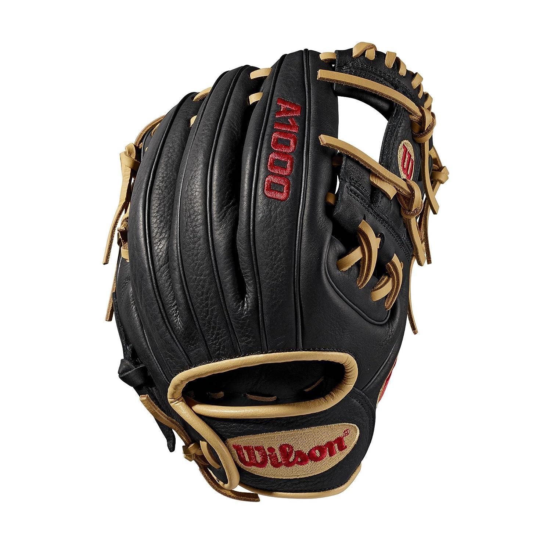 color negro//azul derecha Guuantes de b/éisbol 10 Wilson