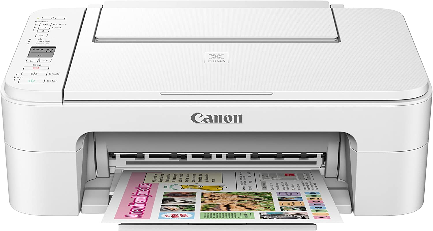 Canon TS3120 Wireless All-in-One Printer, White
