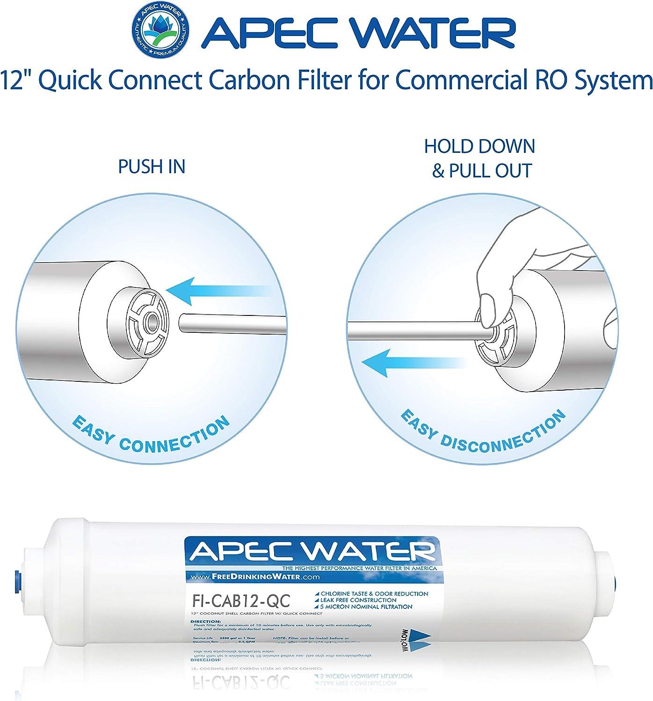 APEC FI-CAB12-QC US Made 12 Commercial Grade Inline Carbon Post ...