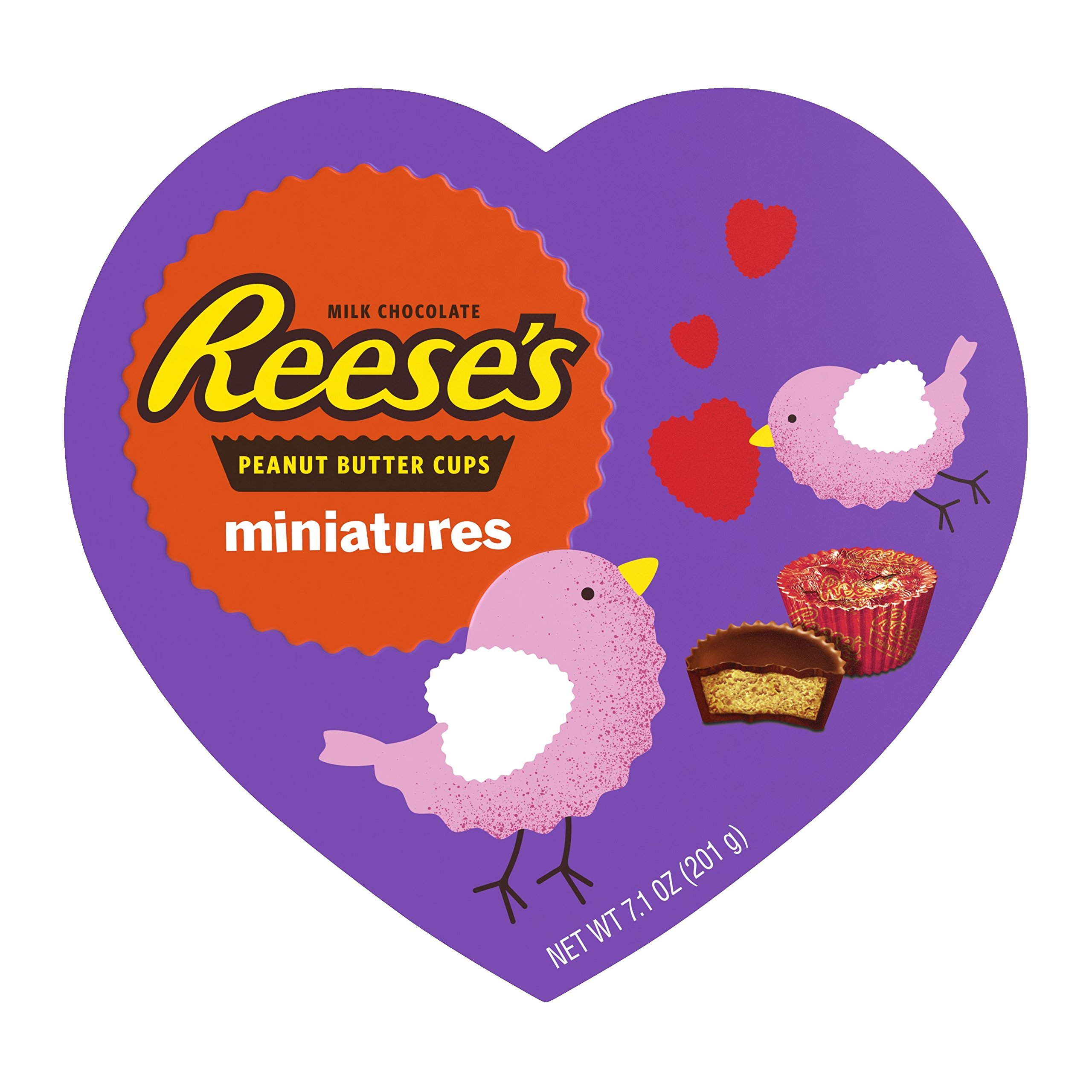REESE'S Valentine's Miniatures Heart Box, 7.1 Ounce (Pack of 12)