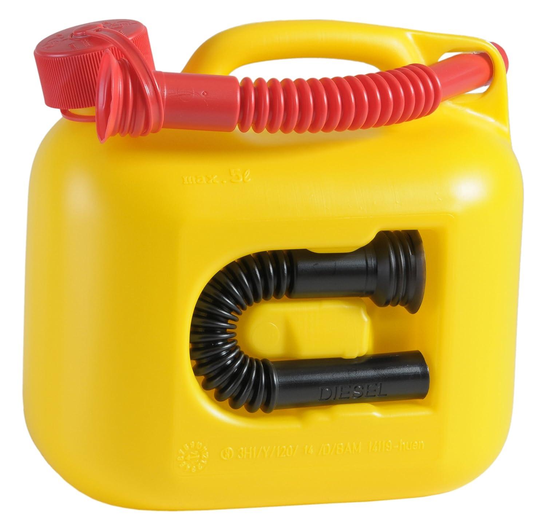 hünersdorff Kraftstoff-Kanister PREMIUM 5l für Benzin, Diesel und andere Gefahrgüter, UN-Zulassung, made in Germany, TÜV-geprüfter Produktion, schwarz hünersdorff GmbH 800300