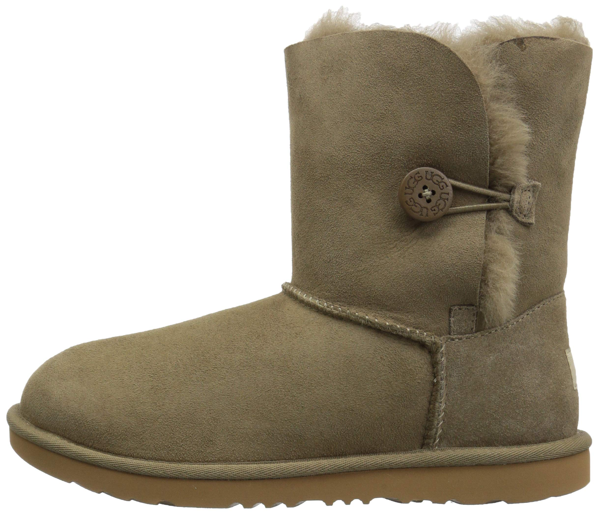 UGG Unisex K Bailey Button II Fashion Boot, Antilope, 13 M US Little Kid by UGG (Image #5)