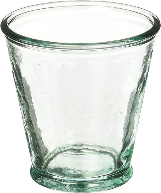 Eco Living cristal reciclado jugo/agua/vino/vasos de cóctel 8 oz (Juego de 6) estilo Vintage fabricado en España: Amazon.es: Hogar
