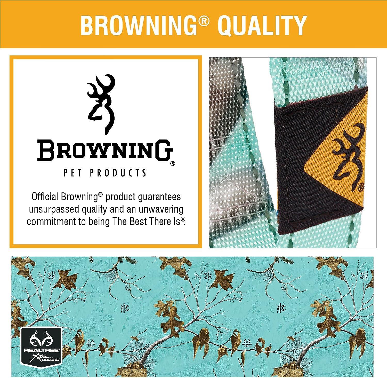 Reflective Stitching Durable Nylon Webbing Browning Classic Dog Collars Locking Buckle Sizes Small Medium and Large