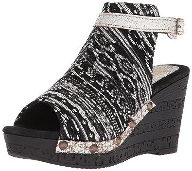 5334502a8b0a Sbicca Women s SABARI Wedge Sandal Black Multi 7 ...
