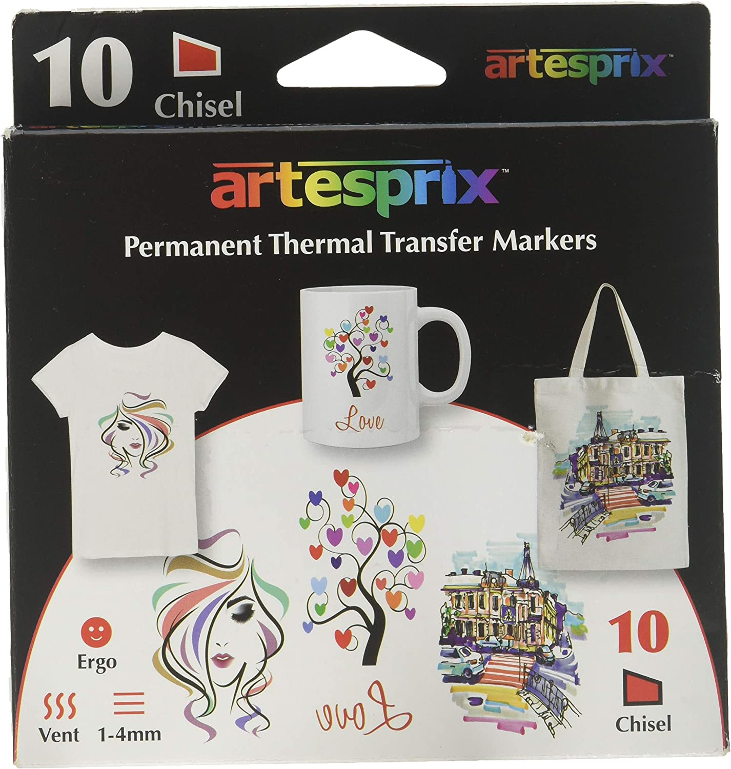Artesprix ARX00110 Permanent Thermal Transfer Markers