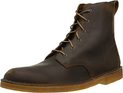 new clarks desert mali boots lace up leather Boots Men's 12 taupe distressed