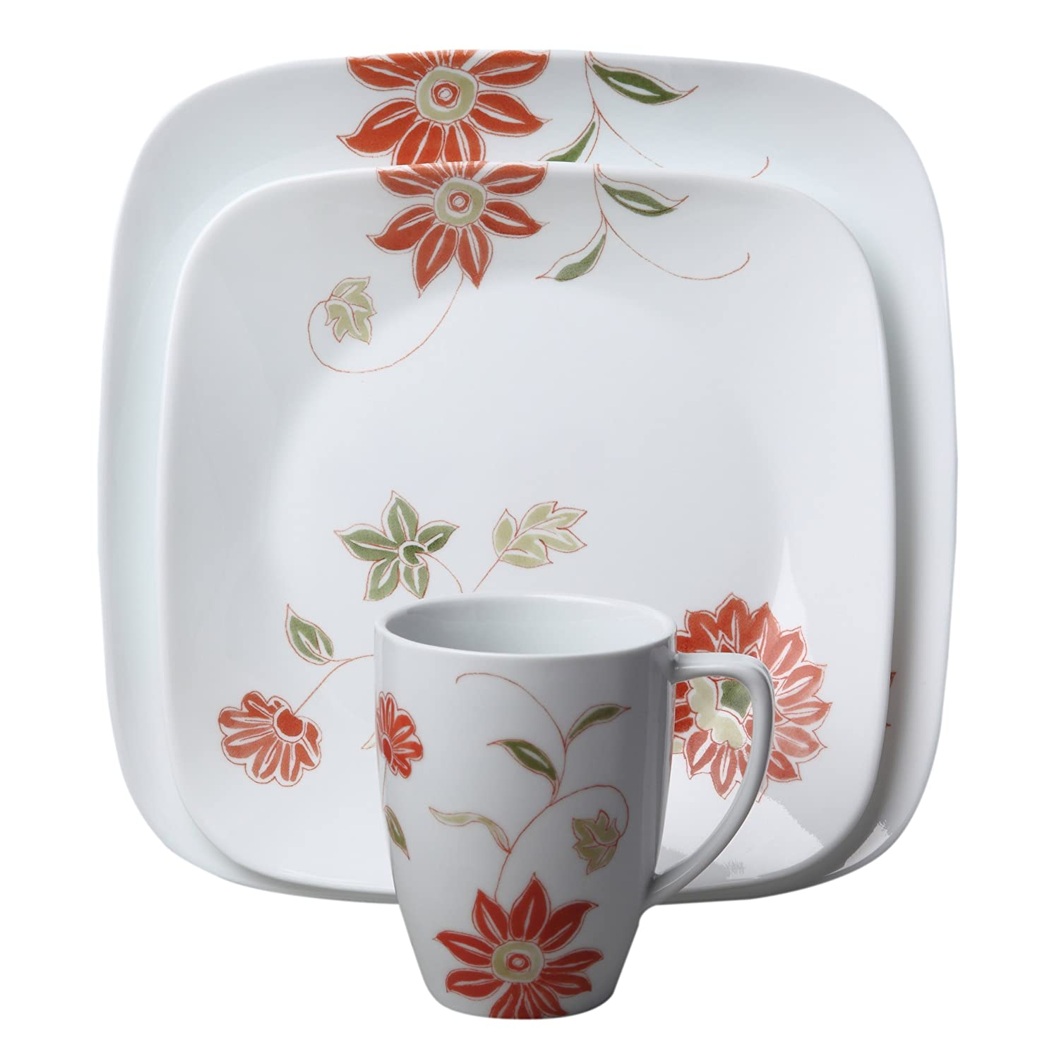 dishes kitchen country brushed cottage silver corelle boutique set cottages pc dinnerware