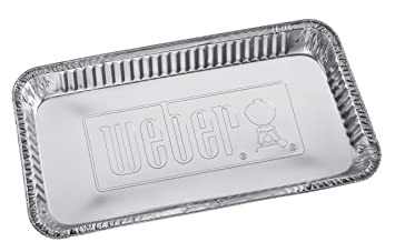 Weber 6454 - Bandejas Aluminio Para Bbq De Carbon (16,5 X 36,