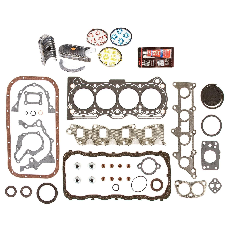 Evergreen Engine Rering Kit FSBRR8005EVE\0\0\0 89-95 Geo Tracker Suzuki Sidekick 1.6 SOHC G16KC Full Gasket Set, Standard Size Main Rod Bearings, Standard Size Piston Rings Evergreen Parts And Components