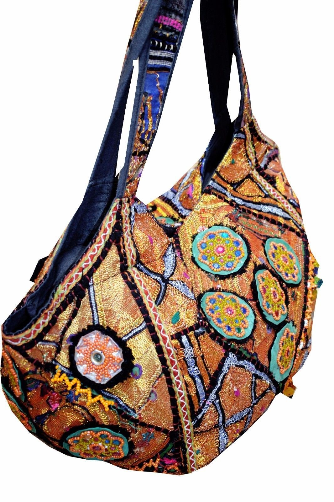 New Womens Handmade Vintage Tribal Patchwork Indian Ethnic Tote Hippie Gypsy Bohemian Shoulder Bag by Gypsia Studio (Image #3)