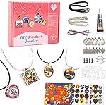 Juboury Girls Jewelry Making Kit - Jewelry Craft Kit, DIY Pendant