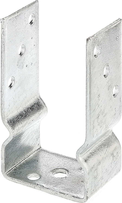 161 mm KOTARBAU U Support de poteau en acier galvanis/é /à chaud Toutes les tailles de lumi/ère Largeur 51 mm