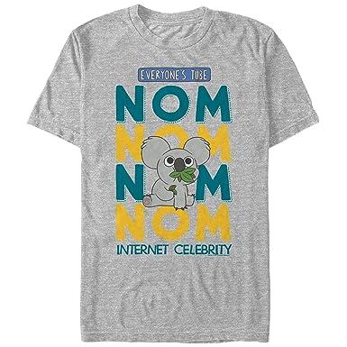 3dc0e784e We Bare Bears Men's Nom Nom Koala Internet Celebrity Athletic Heather T- Shirt