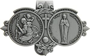 St. Christoper / Our Lady of the Highway Visor Clip