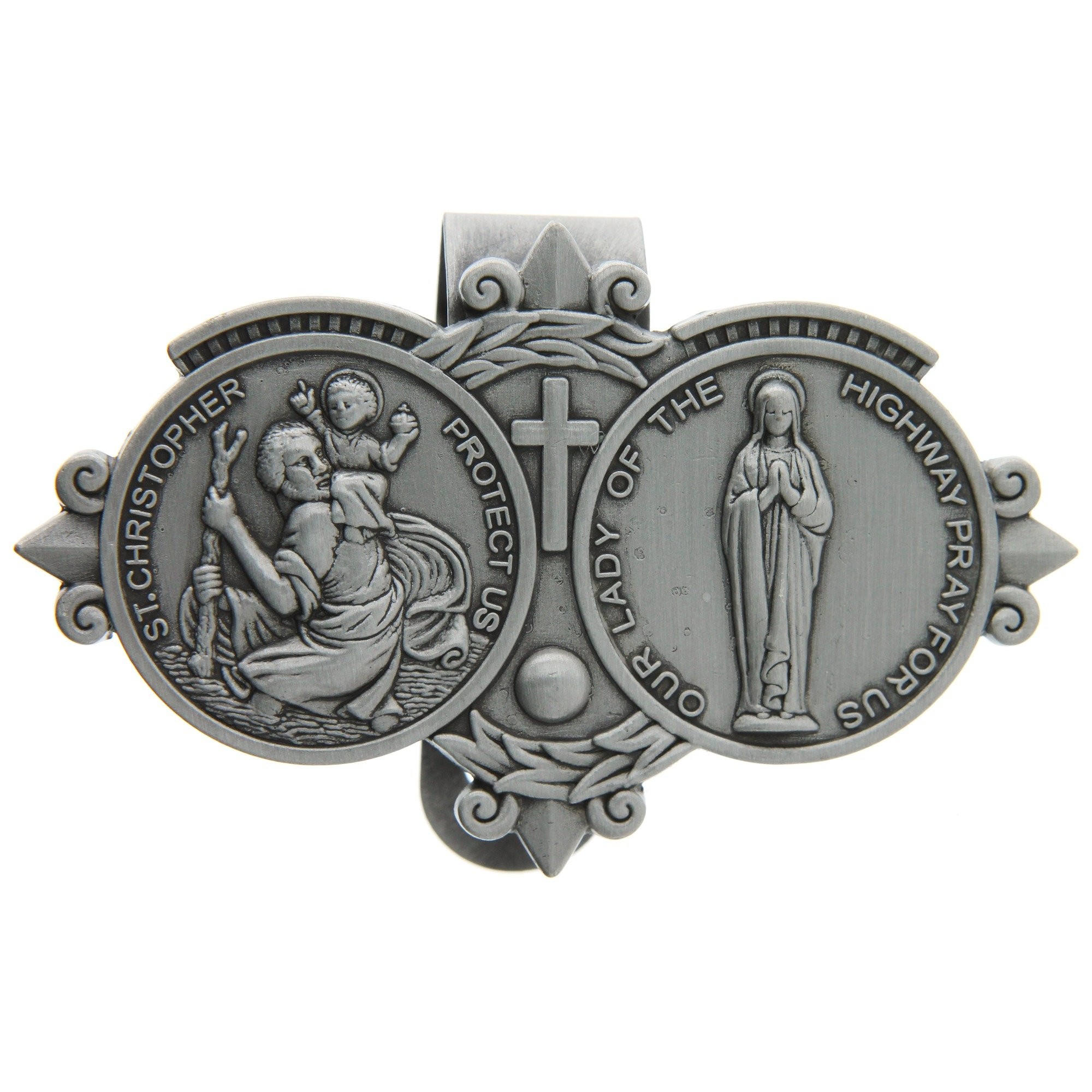 St. Christoper / Our Lady of the Highway Visor Clip by Devon