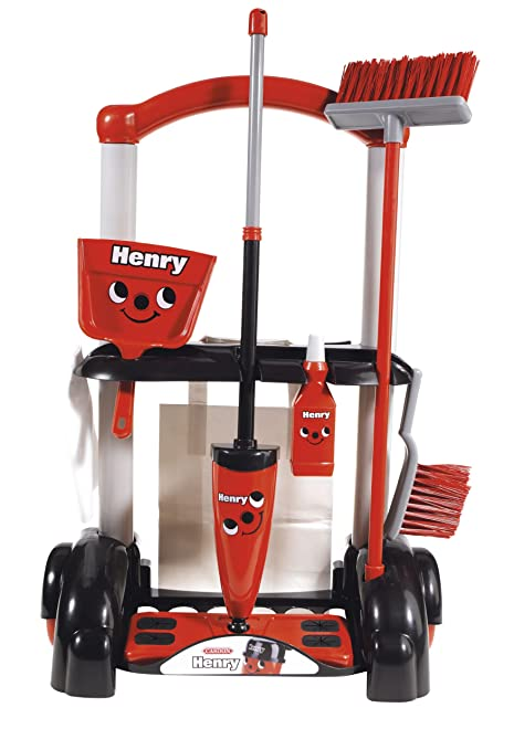 amazon com casdon henry cleaning trolley toys games