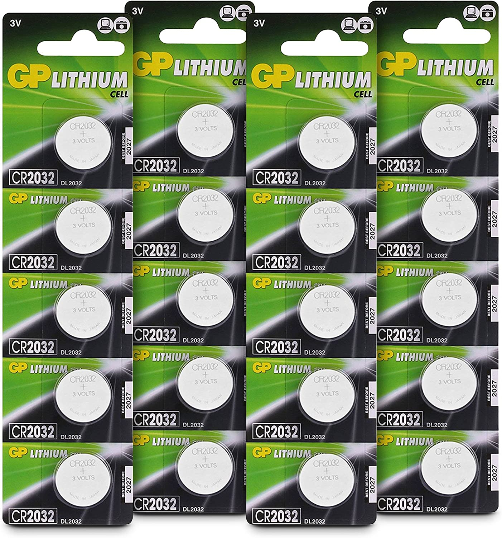 20x Maxell CR2032 Knopfbatterien Lithium Knopfzelle CR 2032