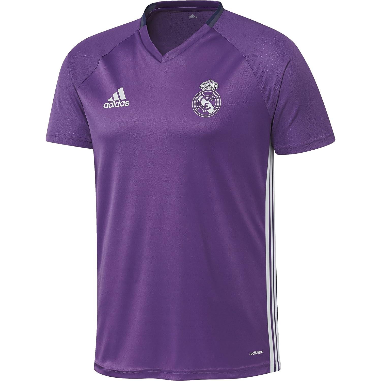2016-2017 Real Madrid Adidas Training Shirt (Purple) B01I1CS7TYPurple Large 42-44\