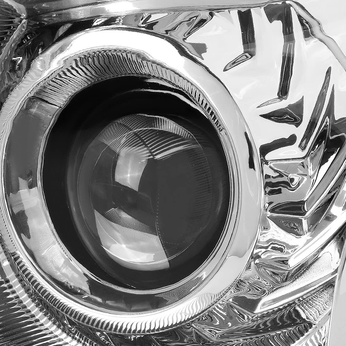 DNA Motoring HL-OH-NA13-CH-AM Pair Projector Headlights Chrome//Amber 13-15 Nissan Altima