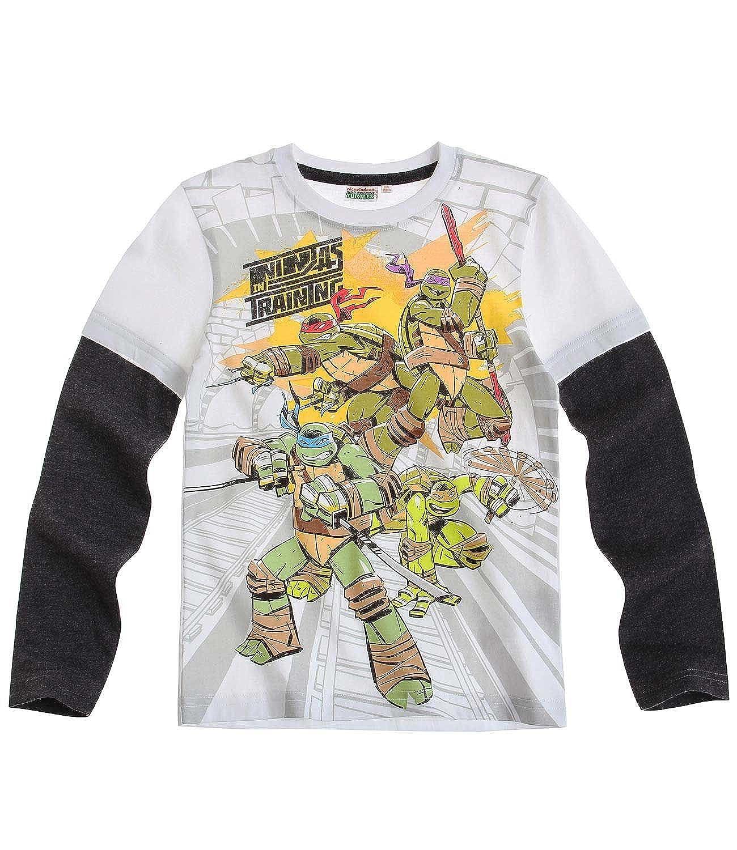 Ninja Turtles T-shirt a maniche lunghe bianco