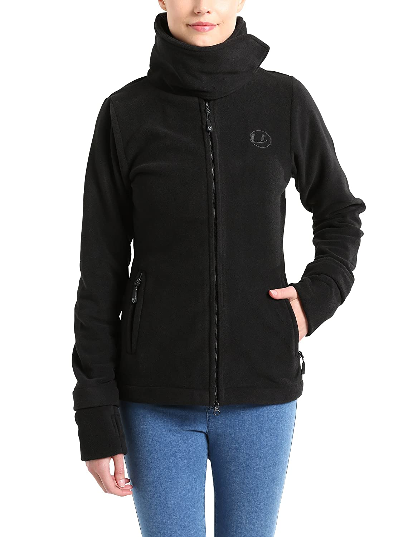 Ultrasport Micro Fleece Jacket Marla Forro Polar, Mujer, Negro, L