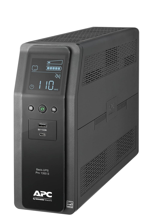 APC Sine Wave UPS Battery Backup & Surge Protector, 1350VA, APC Back-UPS Pro (BR1350MS)