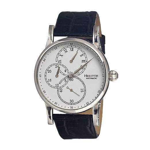 heritor automatic HERHR1101 - Reloj, Correa de Cuero Color Negro: Amazon.es: Relojes