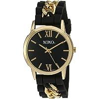XOXO reloj de cuarzo para mujer de Metal y hule, Automático, color: negro (Modelo: XO8101)