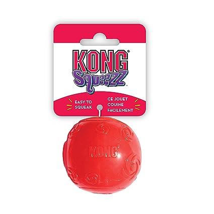 KONG - Squeezz® Ball - Juguete que rebota y suena incluso pinchado ...