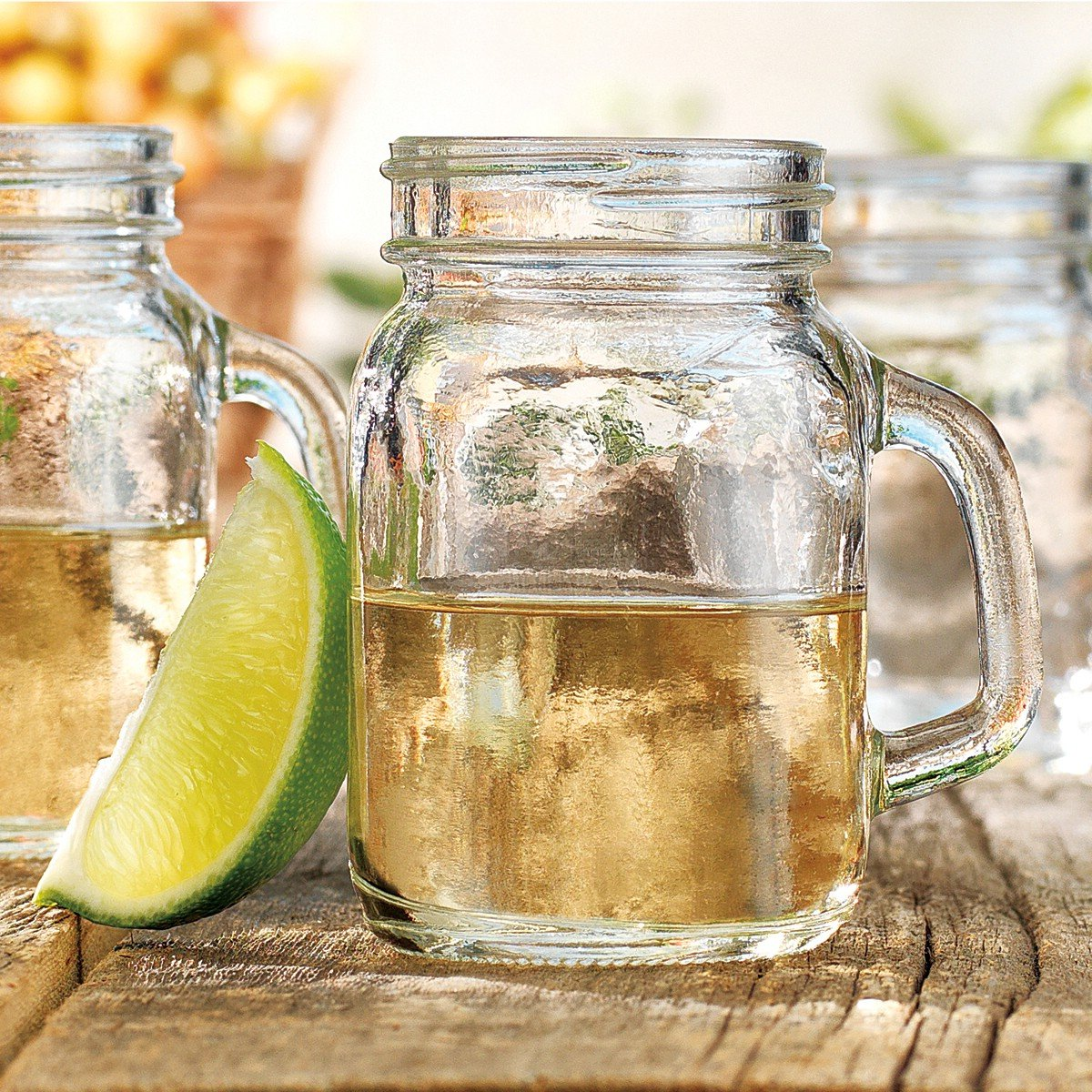 Mason jar shot glass shooters